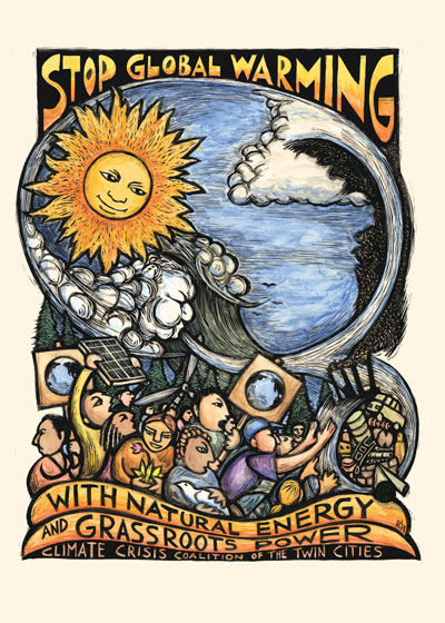 Stop global warming with natural energy and grassroots power